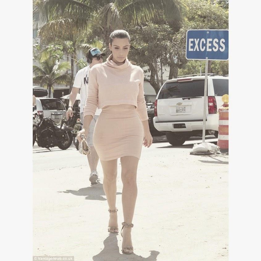 Kim Kardashian Miami Pastel Pale Pink