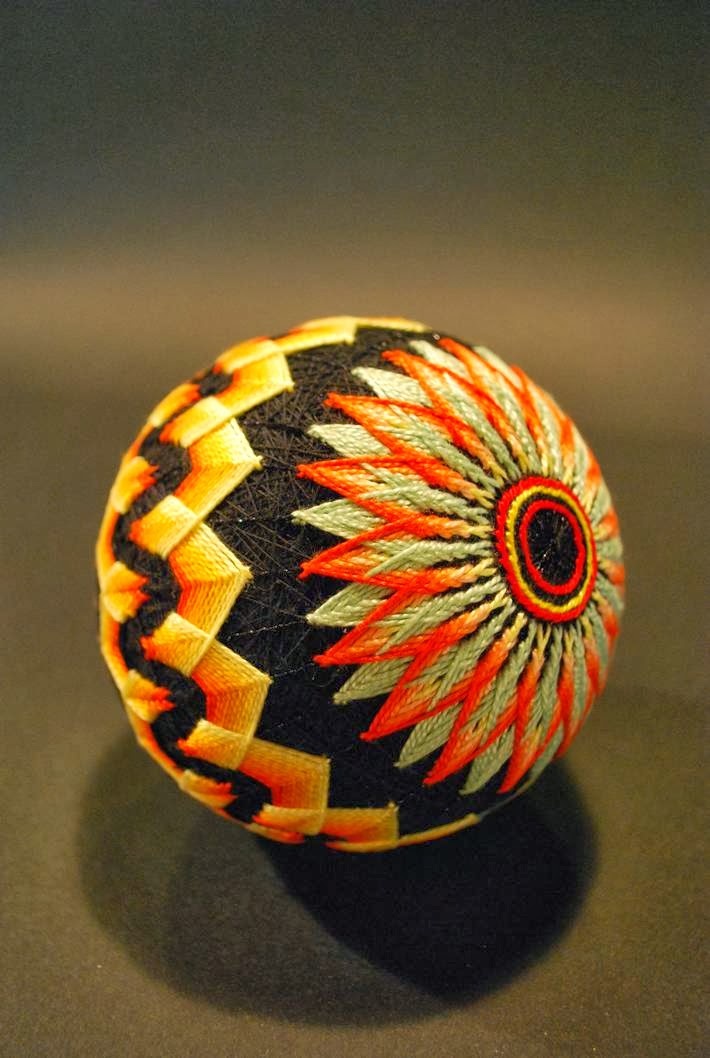 Spectacular Collection of Embroidered Traditional Japanese Temari Hand Balls By 92 Year Old Japanese Woman