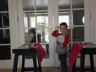 Preschooler Karate Chop