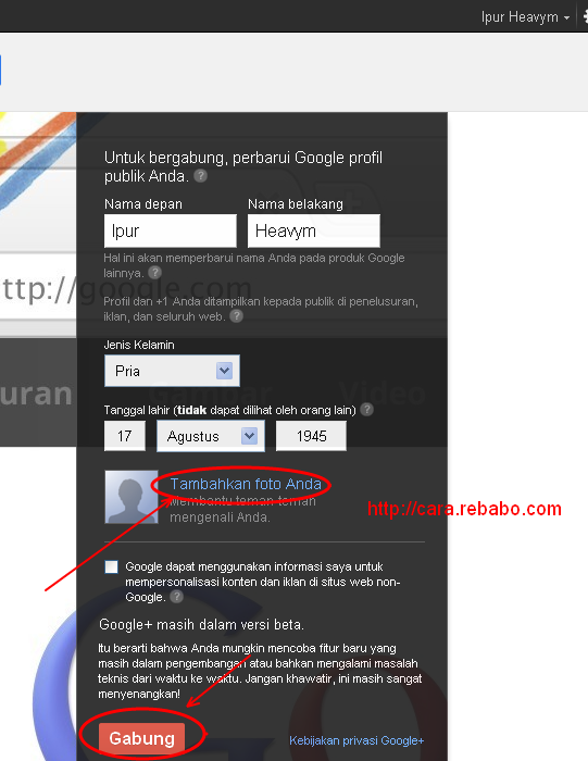 tutorial membuat akun google plus