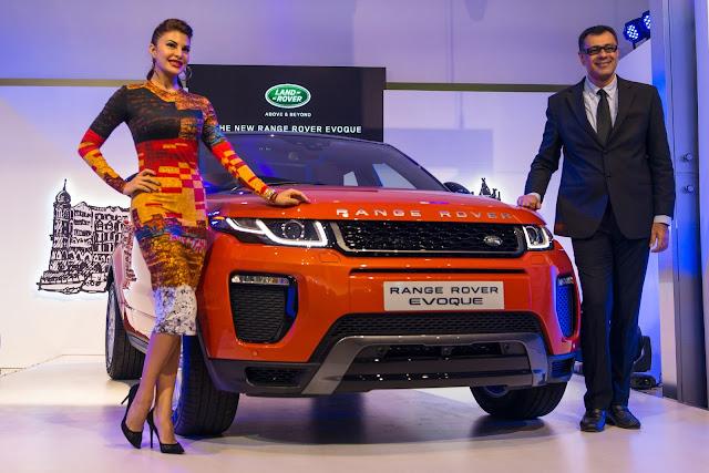 Jacqueline Fernandes with Range Rover Evoque