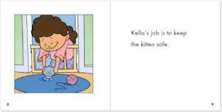 excerpt from illustrated version of Kella's Kitten: The Sound of K by Joanne Meier and Cecilia Minden