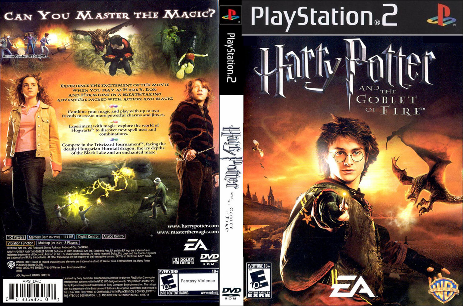 harry potter y el caliz de fuego ps2: