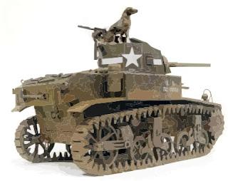 Tank, M3 Stuart Papercraft