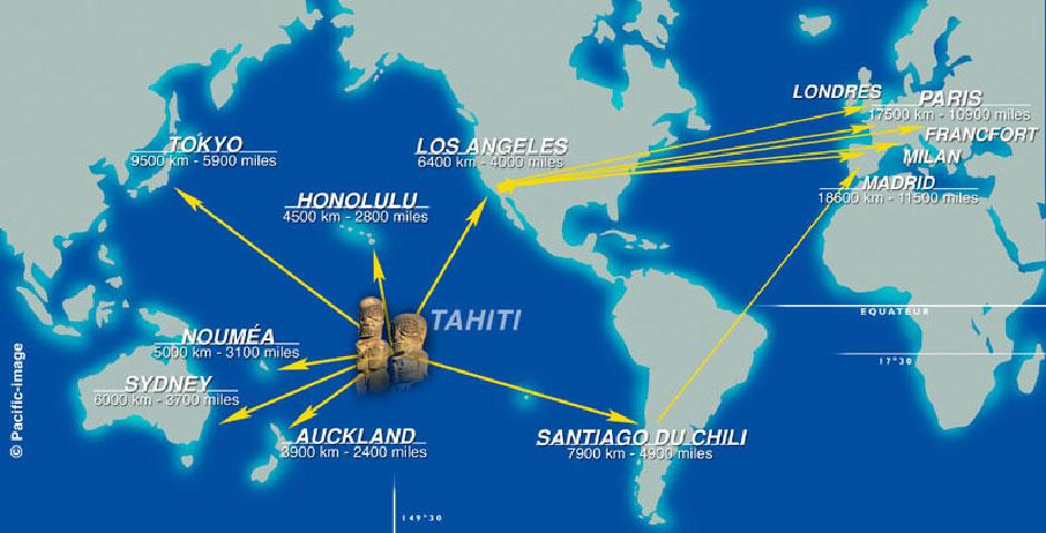 Infos sur : tahiti carte mondiale - Arts et Voyages