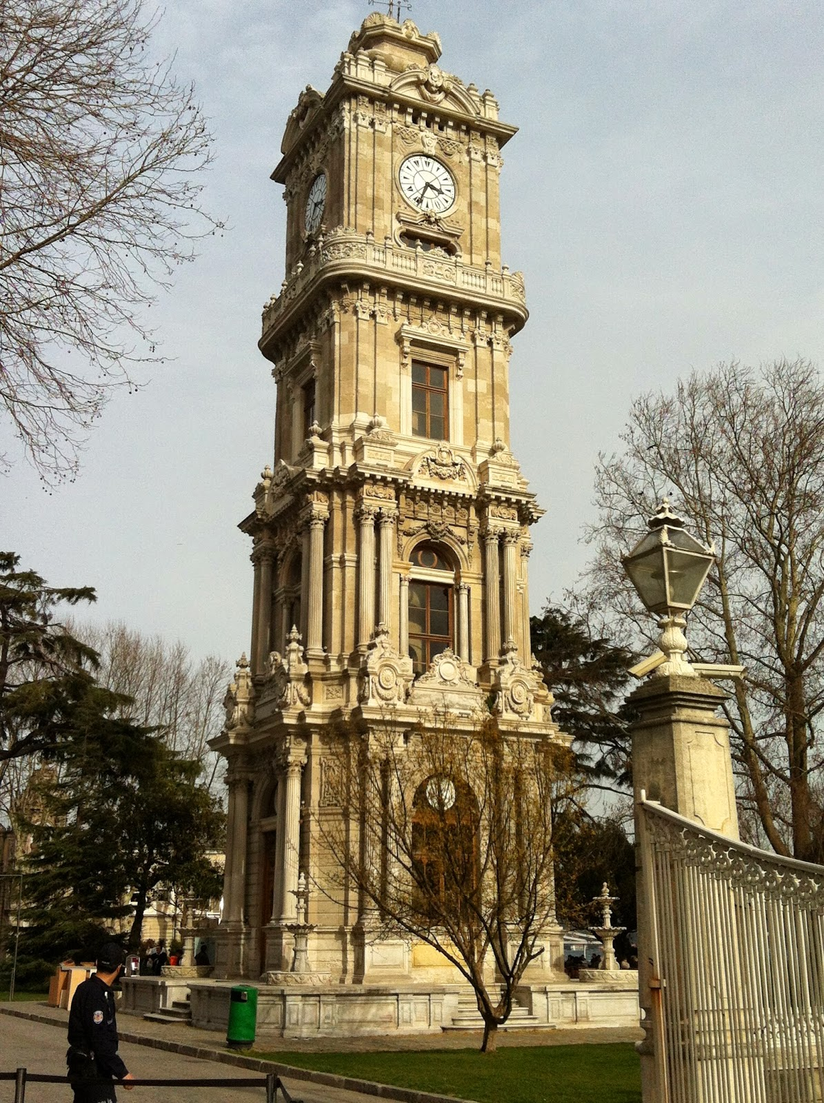 Tracing istanbul another important landmark dolmabahce clock tower stands in between dolmabahce palace and bezmi alem valide sultan mosque ordered to be built by sultan thecheapjerseys Gallery