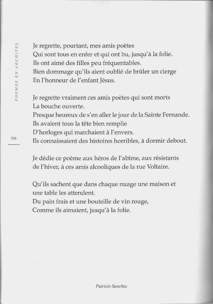 Rue Voltaire, Patricio Sanchez  (Revue Souffles Vol. 75 , France, décembre 2014).-