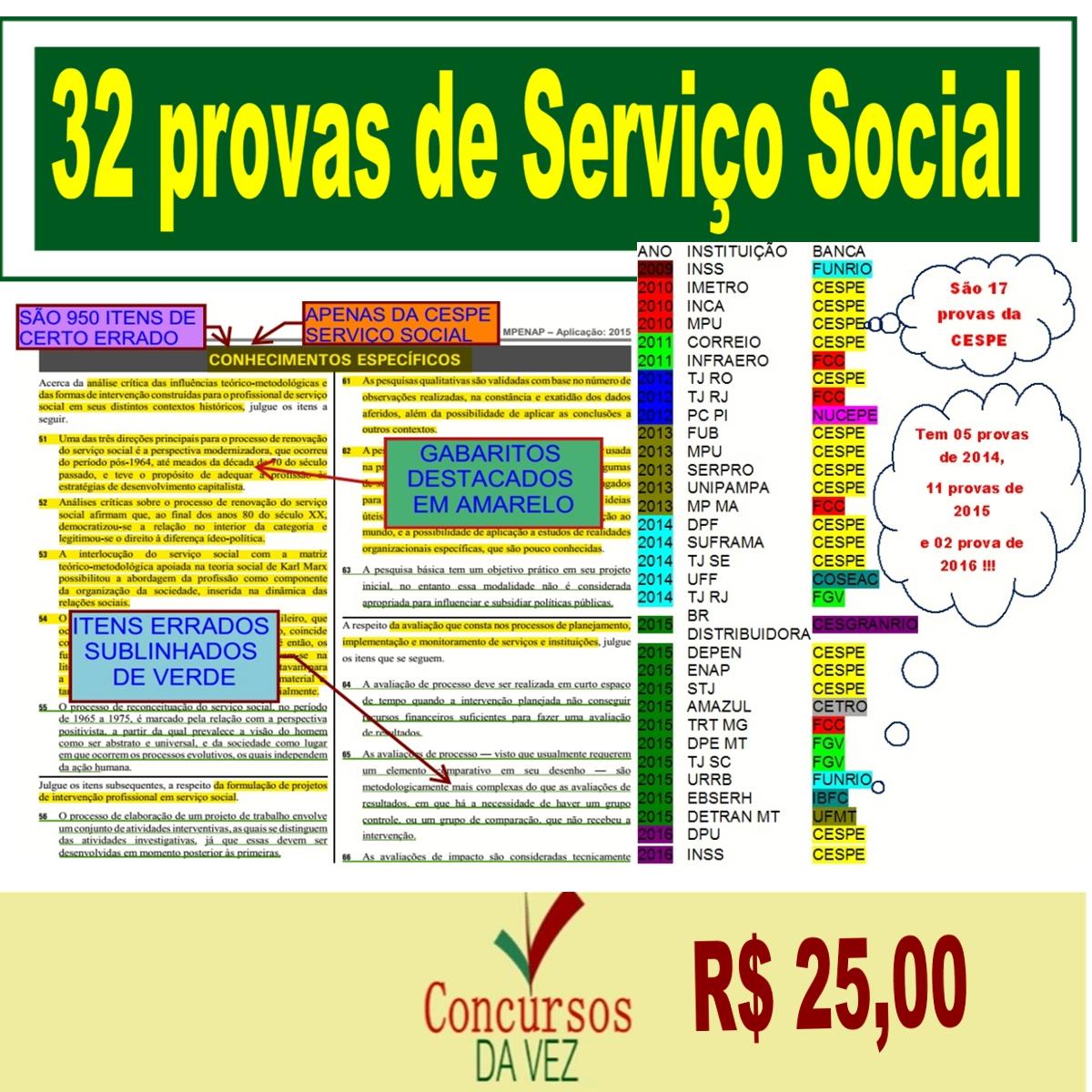 32 PROVAS DE SERVIÇO SOCIAL