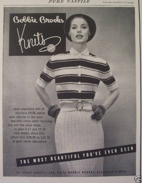 Bobbie Brooks sweater advertisement Just Peachy, Darling
