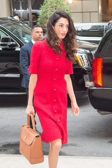 Amal-Clooney-Red-Dolce-and-Gabbana-New-York