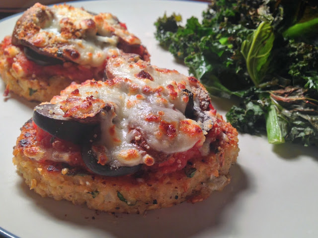 Pizza Topped Quinoa + Bean Burgers