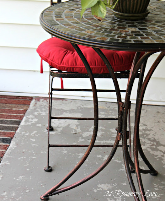 21 Rosemary Lane New Bistro Set And Front Porch Project