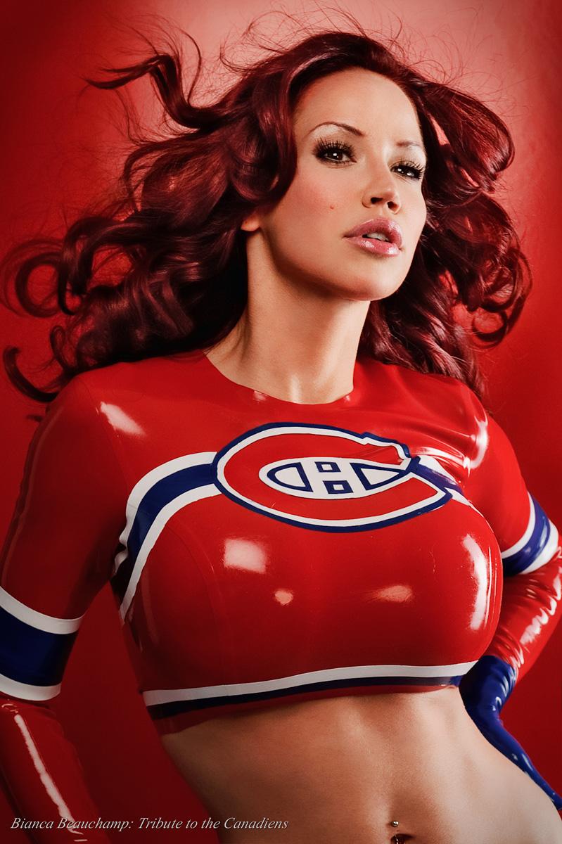 Thank Girls in hockey jerseys please the