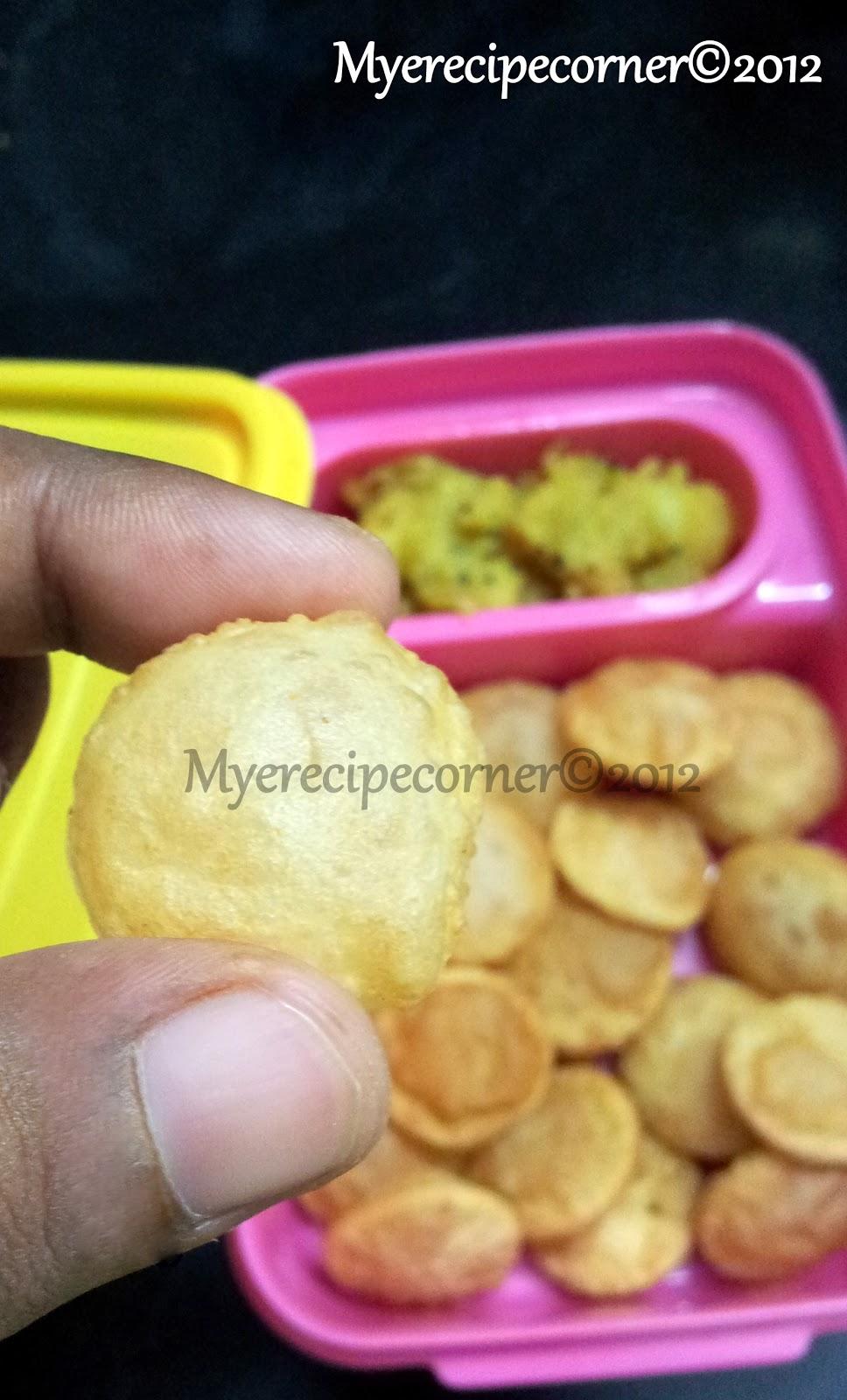 Myes kitchen mini poori coin puri kids lunch box recipes indian mini poori puri forumfinder Gallery