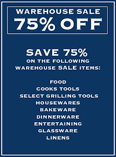 Williams Sonoma Warehouse Sale