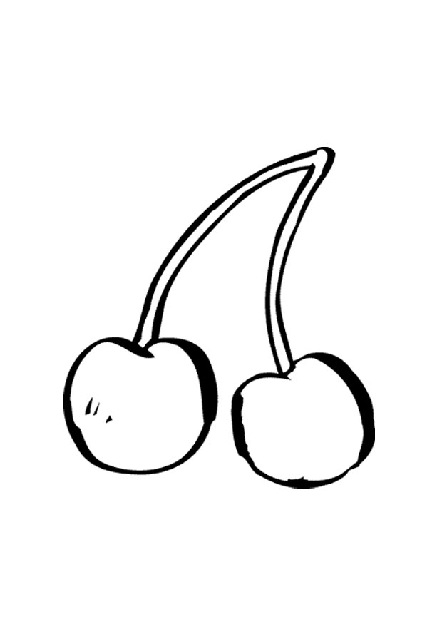 Cherry Pluras / Cherries Coloring Pages Ideas   Color Udin