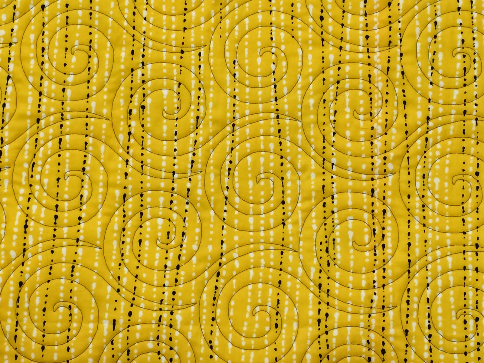 Leanne Strum Modern Yellow and Black Quilt