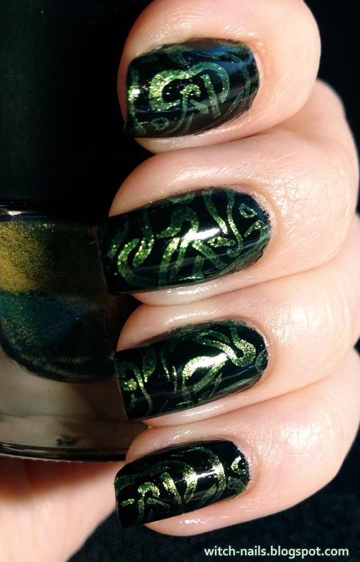 Witch Nails: BPS Green Stamping Polish