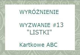 wyróznienie w Kartkowym ABC