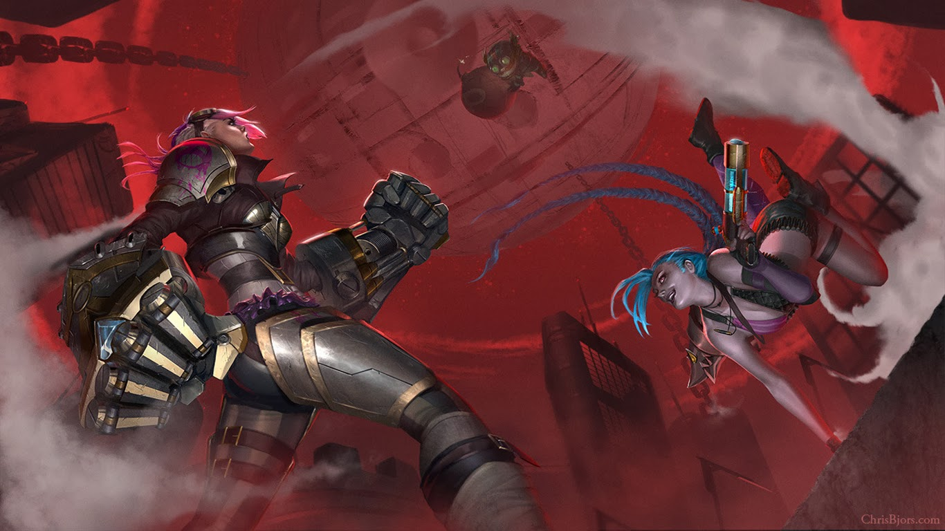 Jinx Wallpapers Lol vi jinx and ziggs league of legends hd wallpaper lol champion skin