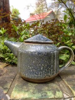 Squared handmade teapot by Lori Buff