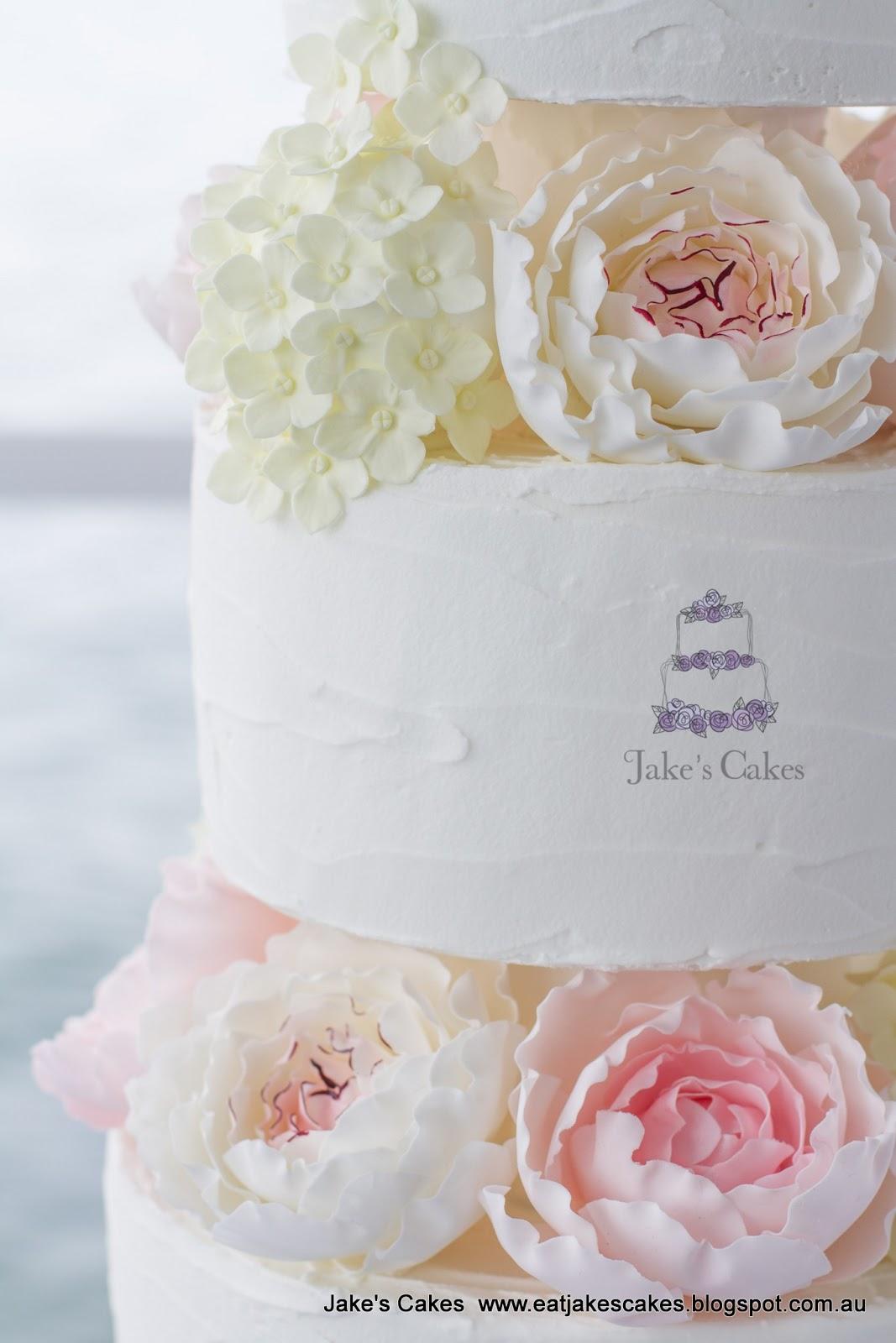 Rustic Royal Iced Wedding Cake