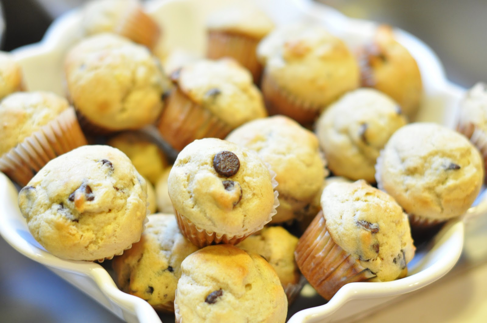 -Chip, Banana Choco-Chip Mini-Muffins, Banana Choco-Chip Mini-Muffins ...