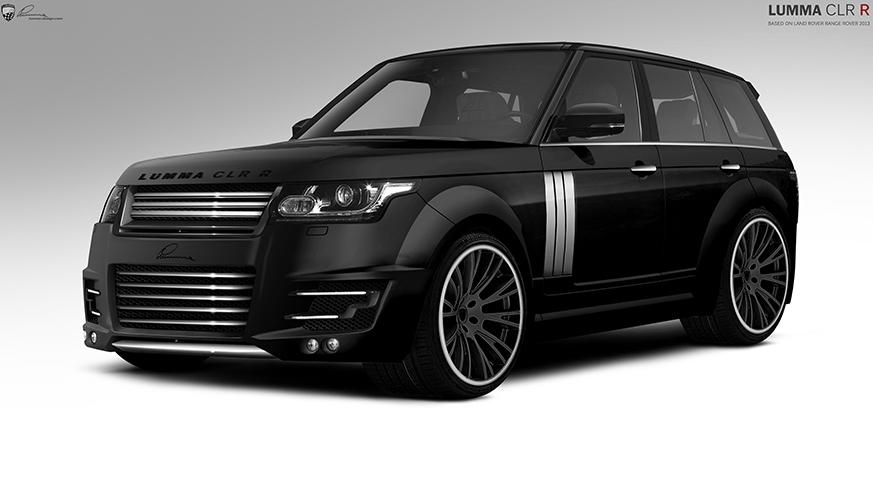 Чёрный  Range Rover вид спереди