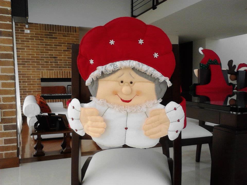Decoracion De Noel ~ RoAguiar NATAL ARTESANAL  CAPA DE CADEIRA  PARTE 1