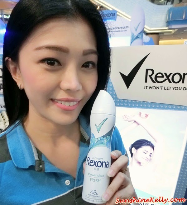 Rexona Spray for Women, Freshprotect, Rexona Spray for Women Launch, Sunway Pyramid, Power Dry, Free Spirit, Whitening, Shower Clean, Passion