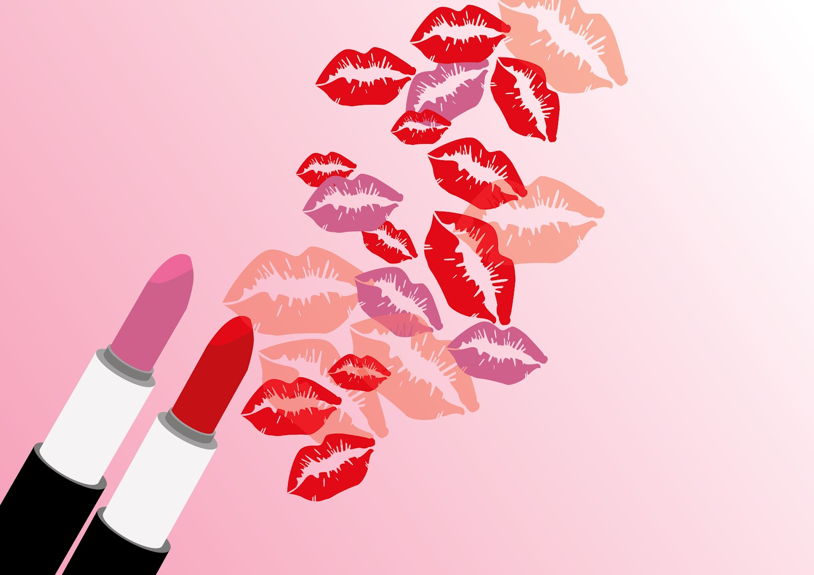 Lip Prints Grieving Your GlossLip Print Wallpaper