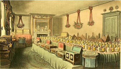 Perfumery goods selected by Mr Ross of Bishopsgate   on behalf of the East India Company as gifts to the Emperor of China  from Ackermann's Repository (Dec 1816)