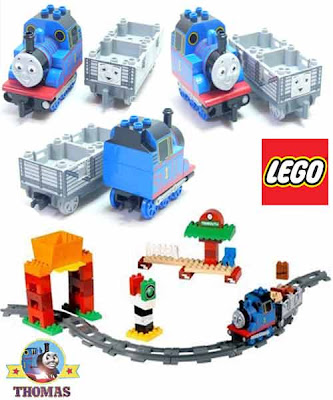 Island of Sodor railway Duplo Lego steam train Thomas the tank engine and the troublesome trucks toy