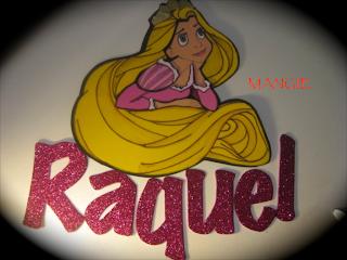 Letrero de Rapunzel con el nombre