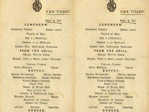 Daftar Menu Makan Titanic yang dilelang Seharga Rp 1,4 Miliar