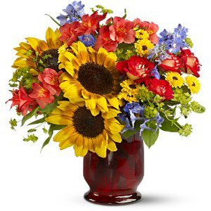 Teleflora Falling For You Vase of Flowers