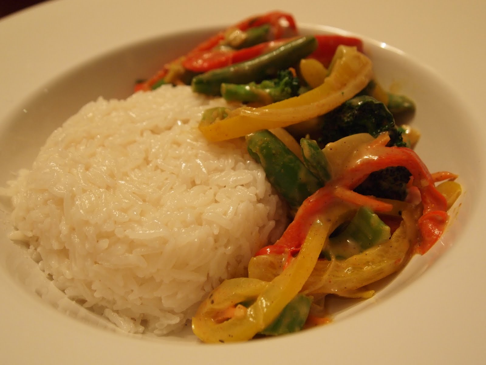 The Alchemist: Coconut Curry Vegetables with Coconut Rice