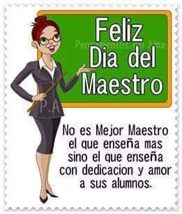 Felicidades maestros en su día!!!...