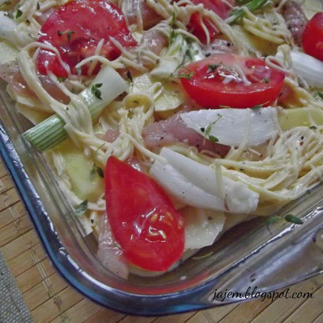Zapiekanka z ziemniakjów a'la pizza