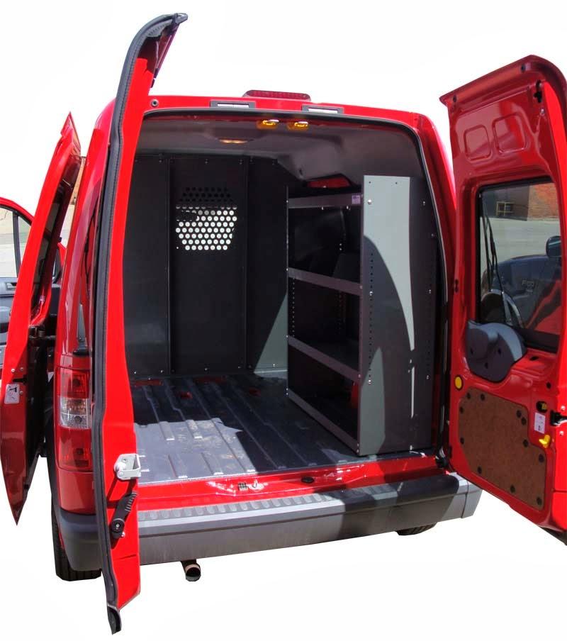 2012 Ford Transit Connect Refrigeration Mini Cargo Van: Dodge / Mercedes Sprinter Shelving, Dodge ProMaster Shelving
