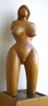wood statuette - Cem Koc