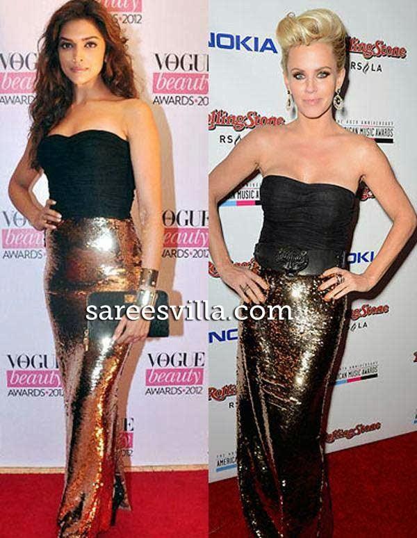Deepika Padukone Jenny McCarthy in same outfit
