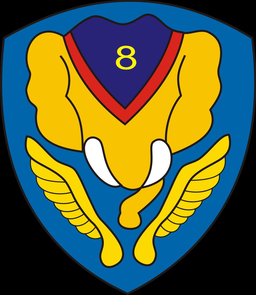 logo skadron 8 tni angkatan udara au gajah terbang