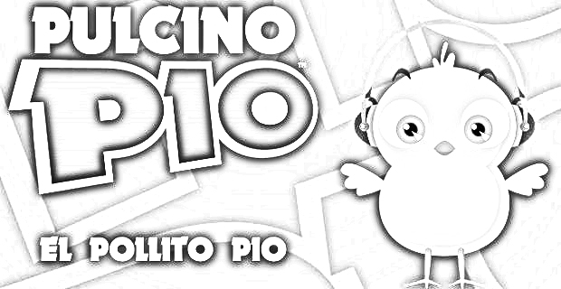Videos del pollito pio para colorear