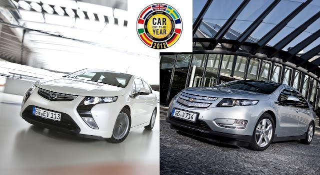 L'auto ibrida Opel Ampera/Chevrolet Volt è Auto dell'Anno 2012