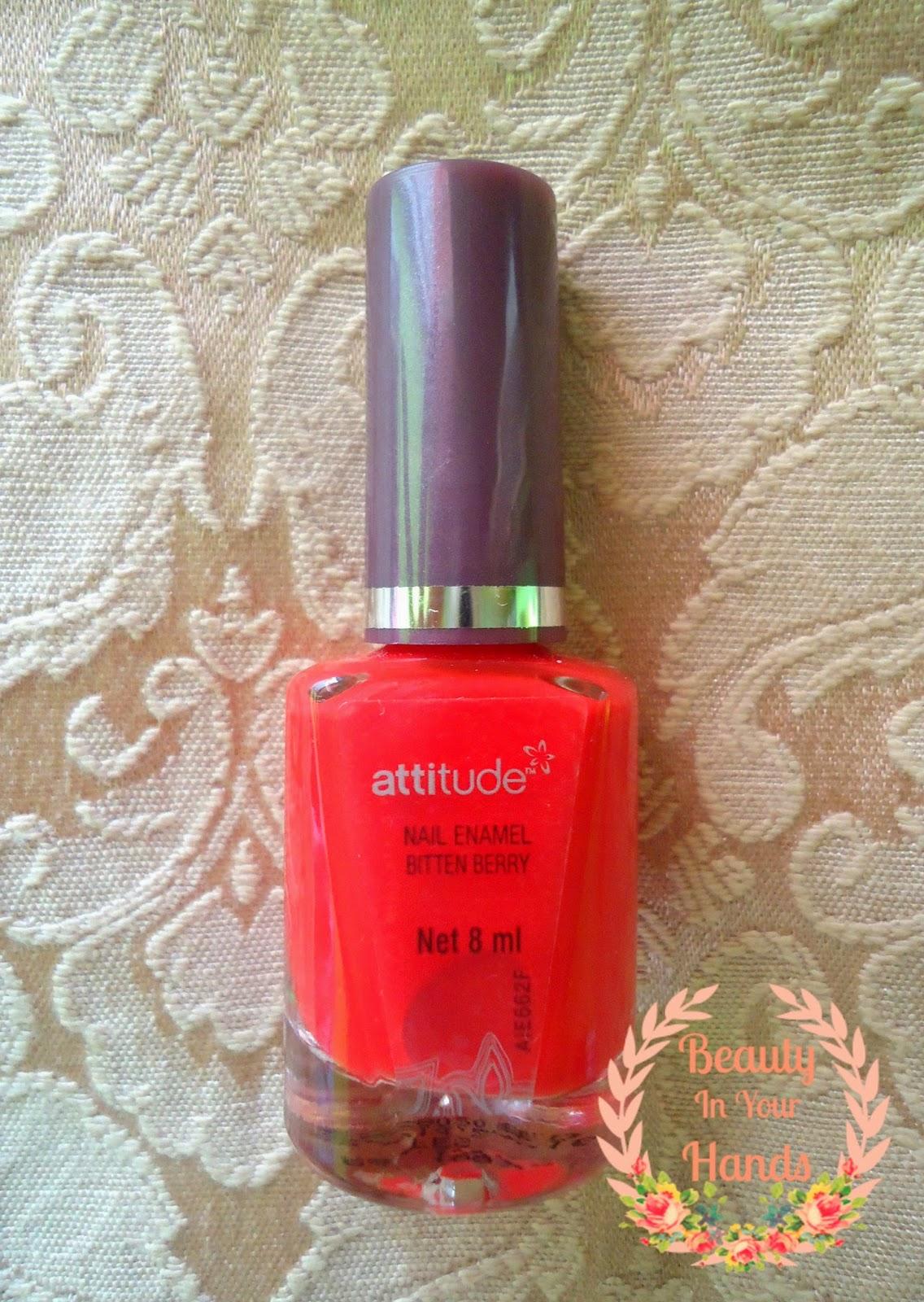 Beauty In Your Hands: Attitude Nail Enamel - Bitten Berry Review
