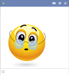 Glasses emoticon for Facebook