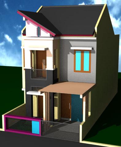 rumah minimalis 2 lantai tipe 21