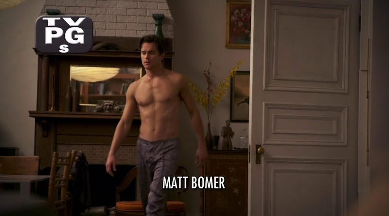 Matt Bomer Shirtless in White Collar s3e03