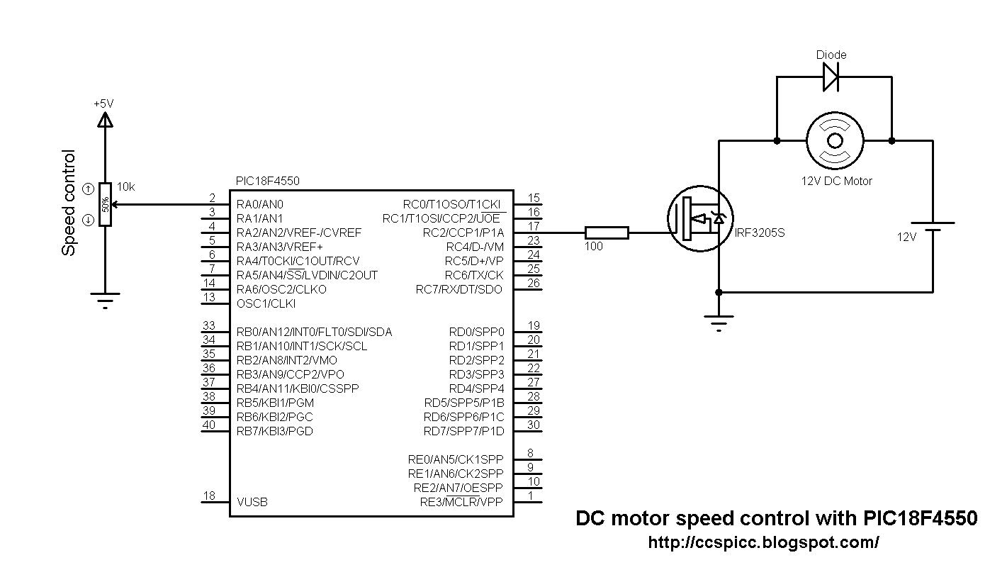 Dc Motor Speed Control With Pic18f4550 And Ccs Pic C